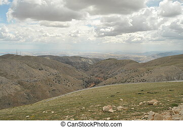 Nemrut Dagi. Mountains on the backg