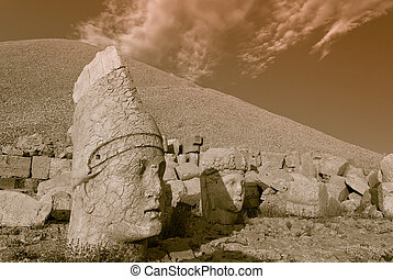 Nemrut dagi - Stone face at the ancient site of Nemrut Dagi...