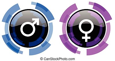 nemz, vektor, hím, női, ikonok