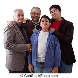 nemzedék, indiai, három, család