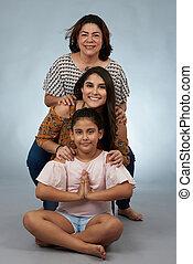 nemzedék, portré, család