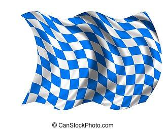 nemzeti, bajorország, lobogó