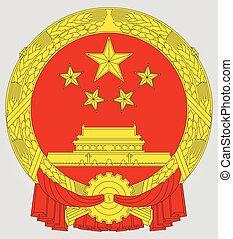 nemzeti emblem, közül, kína