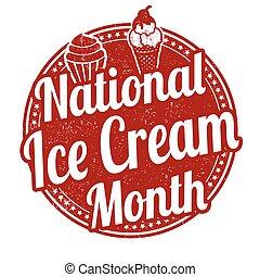 nemzeti, fagylalt, hónap, bélyeg