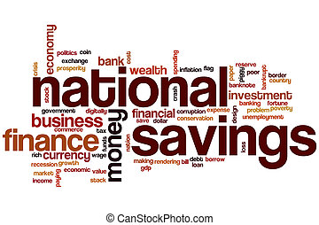 nemzeti, megtakarítás, szó, felhő