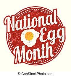 nemzeti, tojás, hónap, grunge, gumi bélyegző