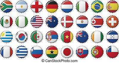 nemzeti, zászlók, közül, országok