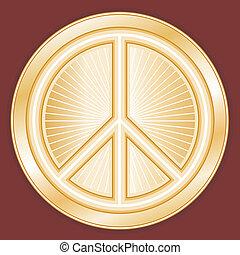 nemzetközi, béke jelkép