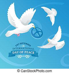 nemzetközi, béke, nap