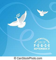 nemzetközi, béke, nap, háttér