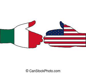 nemzetközi, kézfogás