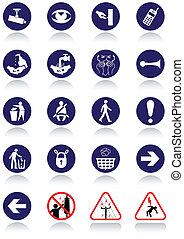 nemzetközi, kommunikáció, signs.