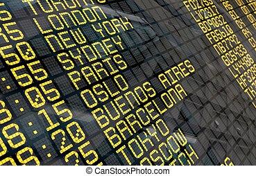 nemzetközi repülőtér, elutazás kosztol