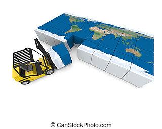 nemzetközi, szállítás