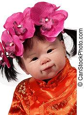 nena, asiático, muñeca