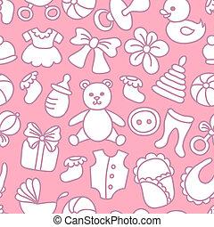Beb rosa ni a seamless patr n rosa papel pintado - Papel pintado bebe nina ...
