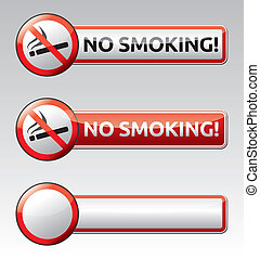 nenhum fumar, proibição, sinal, bandeira, cobrança