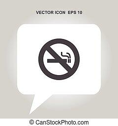nenhum fumar, vetorial, ícone