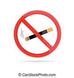 nenhum fumar, vetorial