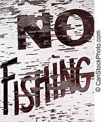 nenhuma pesca, sinal