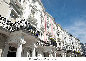 Neo classical terrace homes.