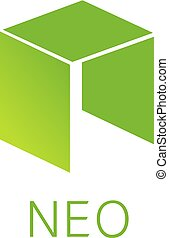 Neo Cryptocurrency Coin Sign Isolated