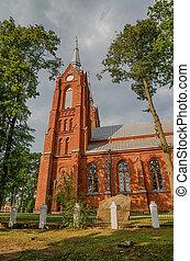 church in Vilkija, Lithuania
