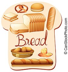 neobvyklý, druh, o, bread