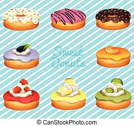 neobvyklý, druh, o, donuts