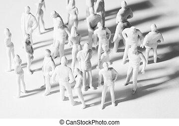 neobvyklý, hračka, národ, muži, zmást, miniatura,...
