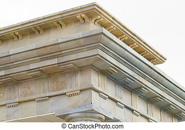 neoclassical ceiling and columns