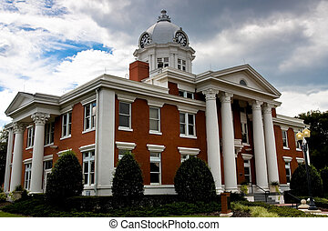 Neoclassical Courthouse - Side angle view of a neoclassical...