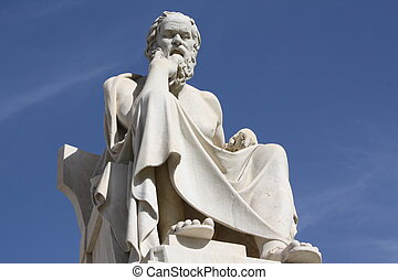 Socrates - Neoclassical statue of ancient Greek philosopher,...