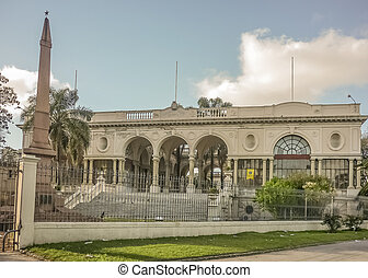 Nice and elegant neoclassical style hospital building in the city of Montevideo, the capital of Uruguay in South America.