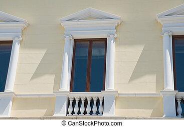 Neoclassical windows.