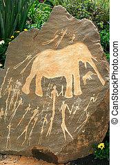 Neolítico, africano, arte, roca
