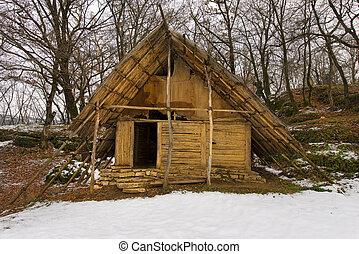 Neolithic Hut - Ponte di Veja - Italy - Historical...