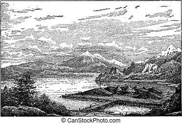 Neolithic Lake-dwelling Station in Latringen, Switzerland,...