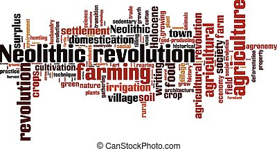 Neolithic revolution word cloud