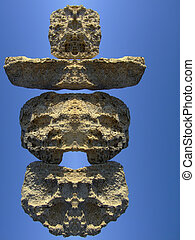 Neolithic Temple - Abstract derivation from rocks of the...