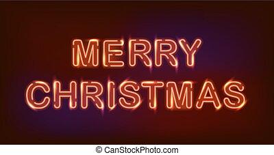 neon., クリスマス, 陽気