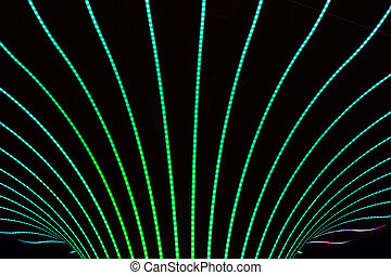 Neon abstract background of lines and bokeh