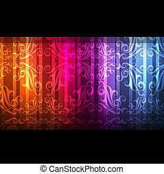 Neon abstract design on dark background vector