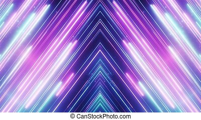 Neon abstract line animation VJ background