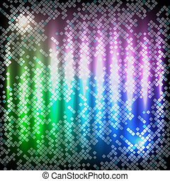 Neon abstract vector background