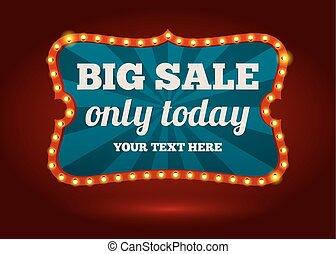 Neon advertising sign - Big Sale