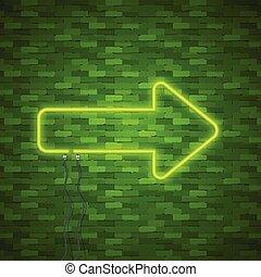 Neon Arrow Sign