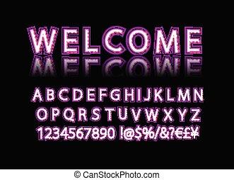 Neon Banner alphabet