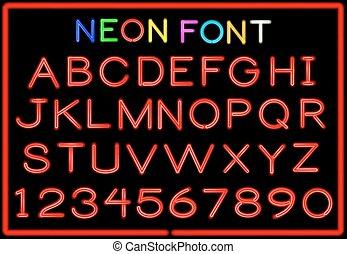 neon, beletrystyka