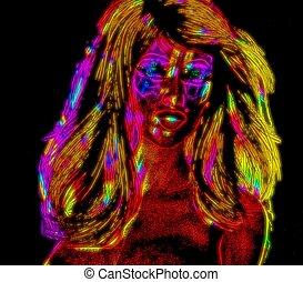 Neon Blonde Punk